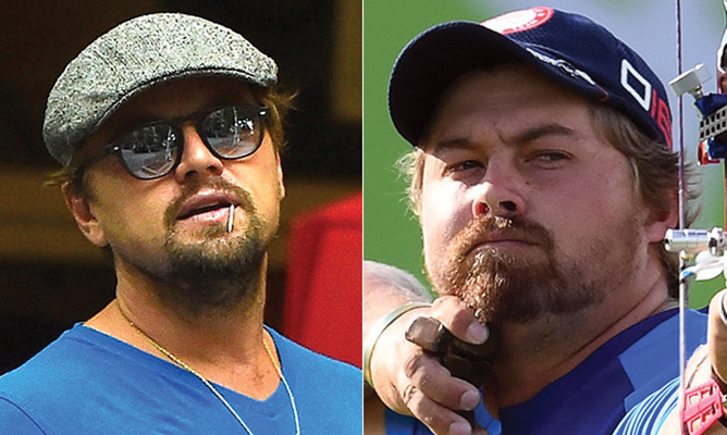 Arizona-born Brady Ellison is a professional archer for Team USA, but the 27-year-old who's handy with an arrow caused a social media frenzy from Rio when fans noticed his uncanny resemblance to Oscar winner Leonardo DiCaprio. Both the actor and the archer favour a smattering of auburn facial hair and have their eyes keenly on the prize. 
