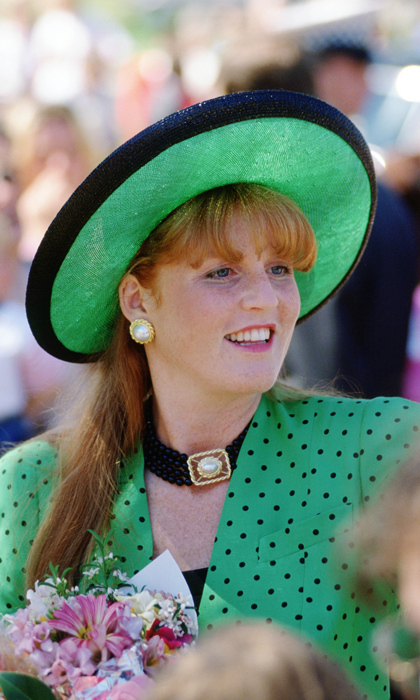 The Duchess of York took a style cue from Princess Diana by working chokers into her accessory game. 