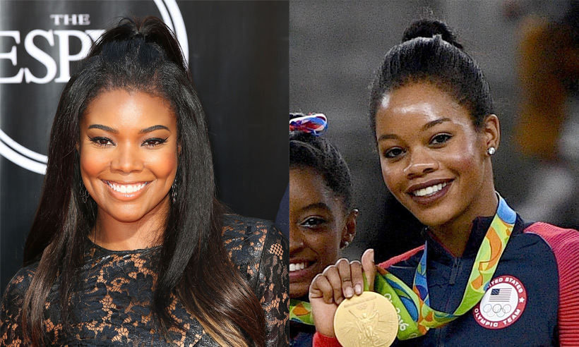 Gabrielle Union and Gabby Douglas share more than just a name! The American gymnast bears a serious resemblance to the <em>Bring It On</em> star. Though Gabrielle showed off some impressive moves in the cheerleading flick, Gabby's twists and turns are clearly on another level, earning the twenty-year-old (and the rest of the United States' female gymnast team) a gold medal.