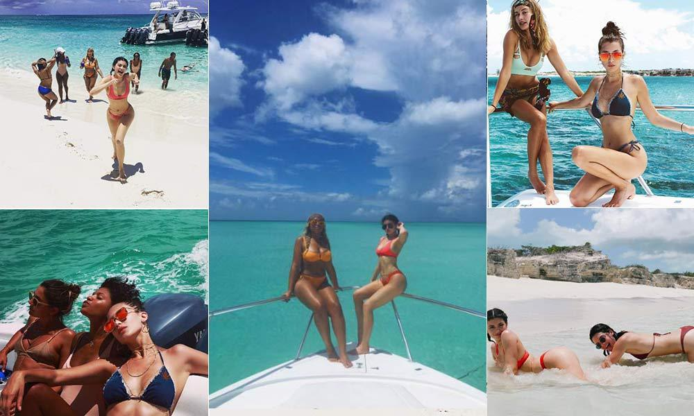 Kylie Jenner turns 19 and jets to Turks and Caicos for ...