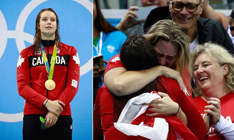 Canada's Penny Oleksiak completed the medal trifecta on Thursday night when she won a gold medal to go with her silver and two bronze. The 16-year-old captivated the nation as she swam to victory in the women's 100m freestyle race. She now holds the title of the most decorated Olympian at a single summer games.  