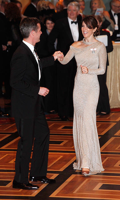 During a trip to New York, the Crown Prince was more than happy to share a dance with his beloved wife.