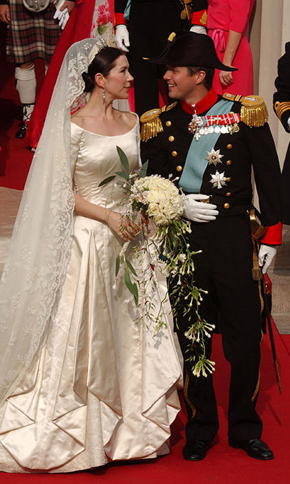 <p>Pomp, royalty and very human emotion mingled on their wedding day in Copenhagen's cathedral on May 14, 2004.