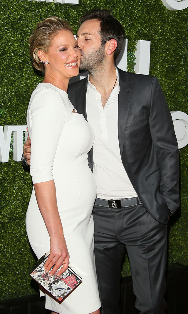 Katherine Heigl, who is expecting a boy with husband Josh Kelley, looked gorgeous cradling her latest curve in a figure-flattering white dress at the 2016 Television Critics Association Summer Tour Party.