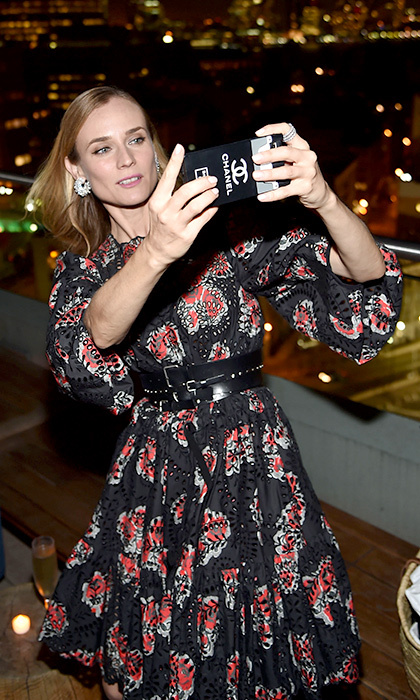 Diane Kruger let her love for Chanel shine at the after party for her film <i>Disorder</i> in New York. The newly single star, who split from longtime love Joshua Jackson last month, dazzled at the event in a floral Alexander McQueen creation. 