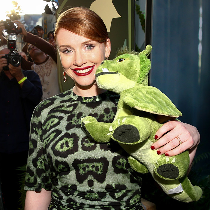 Actress Bryce Dallas Howard dressed for the occasion at the premiere of her new film <i>Pete's Dragon</i> in Hollywood. 