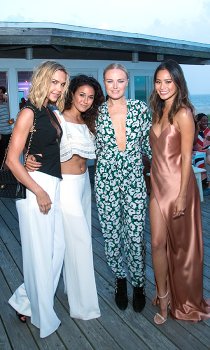 Actresses Arielle Kebbel, Emmanuelle Chriqui, Malin Akerman and Jamie Chung were all smiles at <i>Women's Health Magazine</i>'s Party Under the Stars soirée in the Hamptons. 