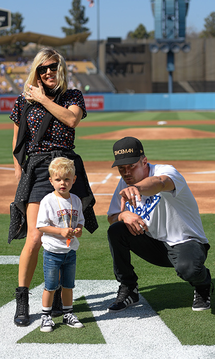 Fergie and husband Josh Duhamel took their son Axl out to the ballgame in Los Angeles. It marked the adorable two-year-old's first MLB game! 