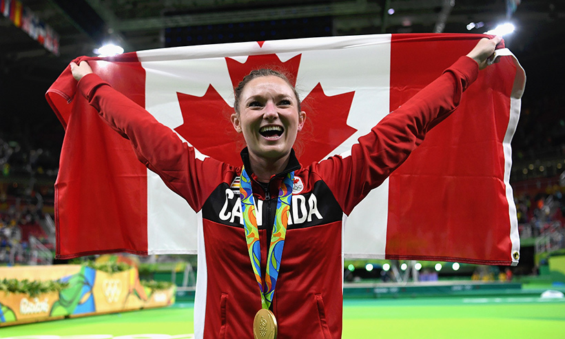 King City native Rosie MacLennan soared to her second straight gold medal in women's trampoline on Friday (Aug. 12). The 27-year-old was Canada's flagbearer in the opening ceremonies. 