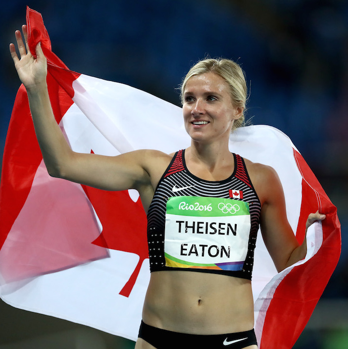 After seven challenging events, Saskatoon's Brianne Theisen-Eaton left Olympic stadium with a bronze medal in heptathlon on Saturday evening (Aug. 13).  