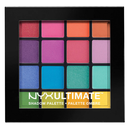 "<strong>NYX Ultimate Shadow Palette – Brights</strong>, $20, at NYX Professional Makeup stores and select Canadian drug retailers, <a href=""http://nyxcosmetics.ca"" target=""_blank""><em>nyxcosmetics.ca</em></a>"
