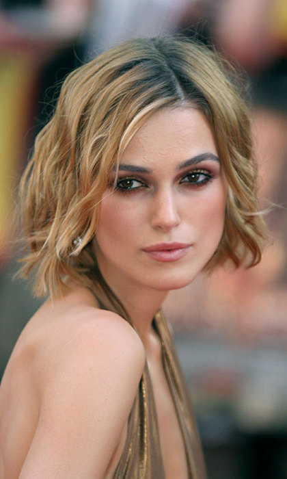 Keira has dyed her hair a range of colours including blonde. 