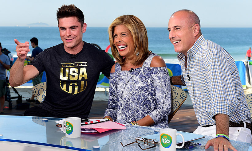 Zac Efron was one of many stars to head to Rio to cheer on athletes at the Olympics. The handsome actor even dropped by the set of <i>TODAY</i> to chat with hosts Hoda Kotb and Matt Lauer. 