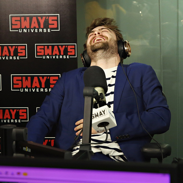 Daniel Radcliffe had a laughter-filled time on the <i>Sway in the Morning</i> radio show in New York. 
