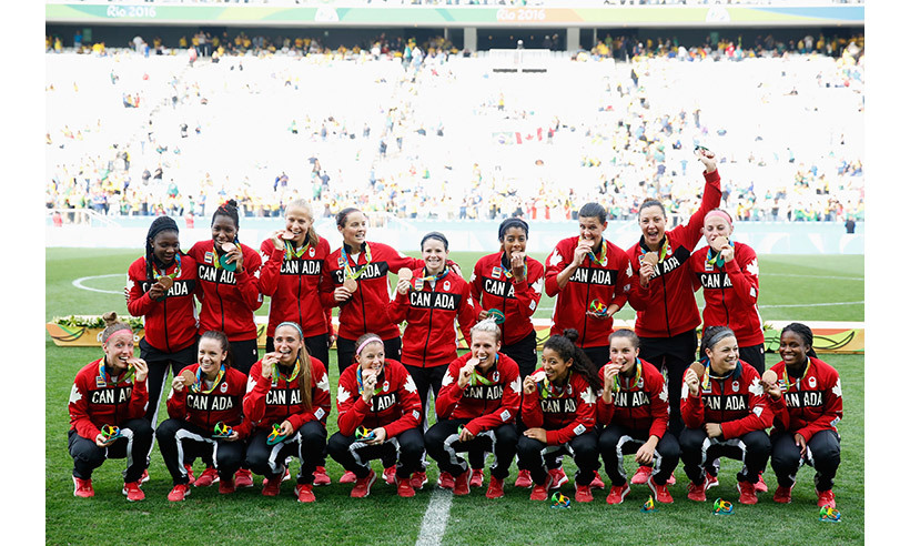 The Canadian women's soccer team defeated Brazil to capture their second straight bronze medal at the Olympics. 