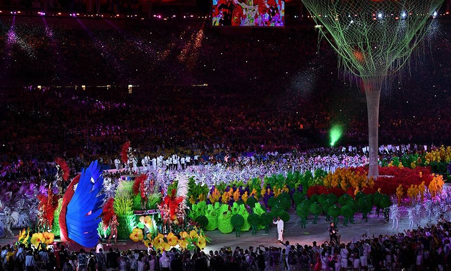 The Maracanã Stadium was turned into a street carnival as the ceremony celebrated Brazil's art, music and dance.