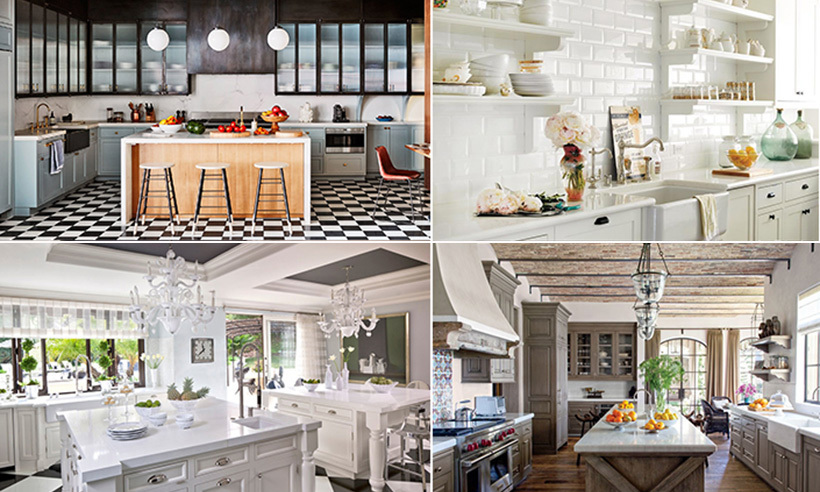 We've rounded up some of the most stunning and perfectly decorated celebrity kitchens - from Lauren Conrad's all-white oasis to Naomi Watts's checkerboard eatery.