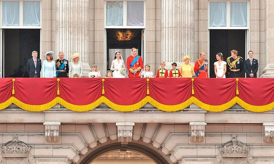Though it has 775 rooms, the Buckingham Palace balcony is most famous thanks to coronations and wedding kisses.