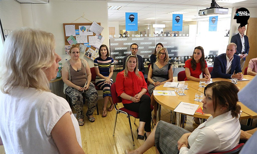 "Heads Together: ""The Duke & Duchess had a taster of the training that volunteers receive to work on the parent helpline.""