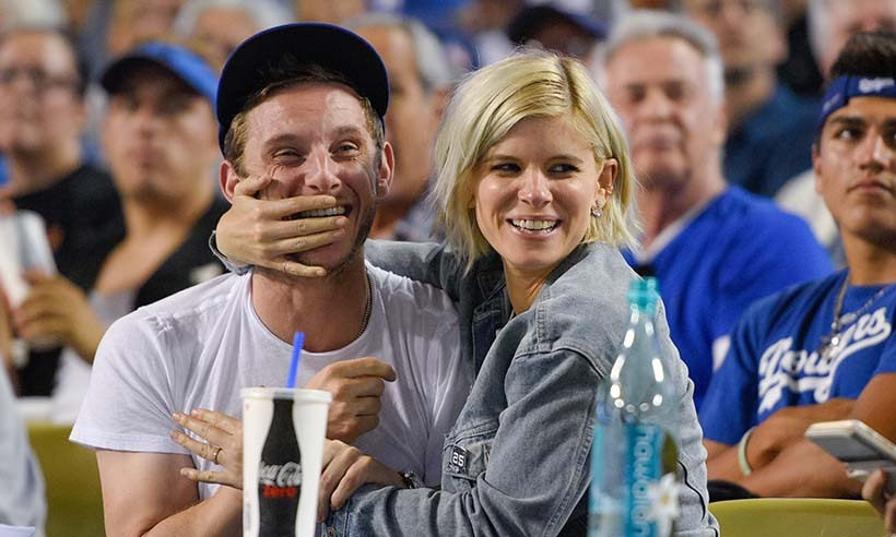Kate Mara and boyfriend Jamie Bell made one adorable couple as they watched the home team take on the San Francisco Giants at Dodger Stadium. 