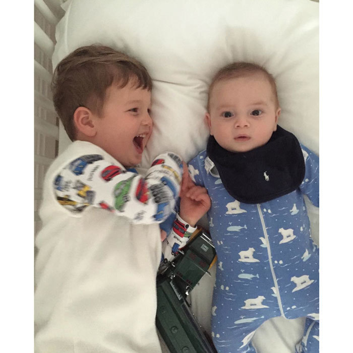 "Nothing like ""brotherly love."" Ivanka captured a sweet moment between her two sons, Joseph and Theodore, wearing their pajamas in bed. 