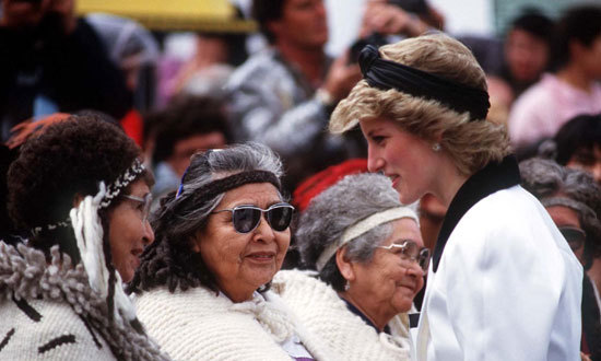 Meeting First Nations dignitaries at the 1986 Expo Exhibition in Vancouver.