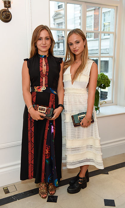 Marina Windsor and Amelia Windsor. Copyright: Burberry.