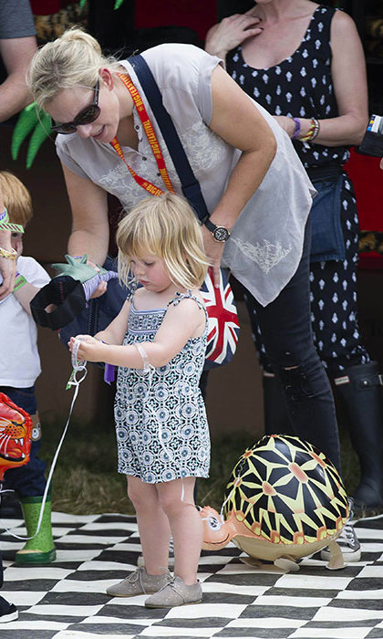 The two-year-old doesn't hold a royal title like her mum Zara.