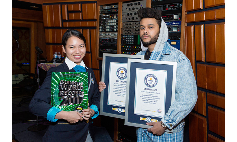 The Weeknd scored two records. 