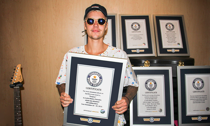Justin nabbed six records!