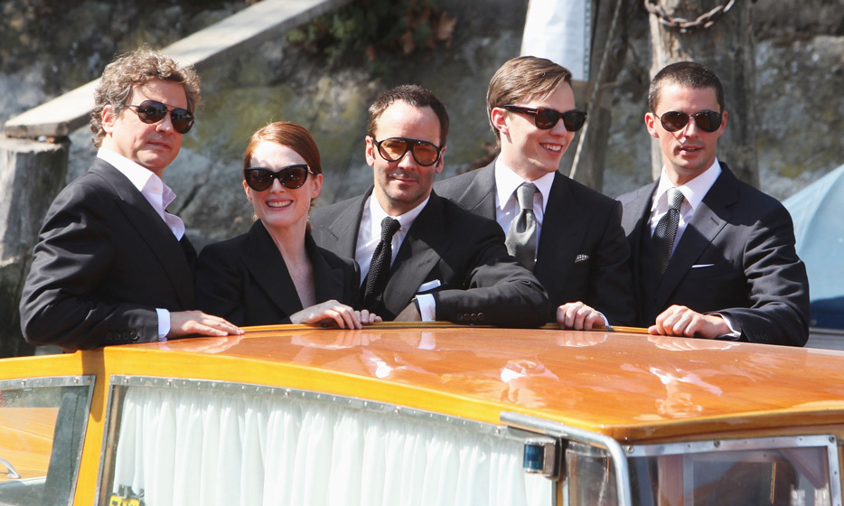 It's a full ship! Colin Firth, Julianne Moore, Tom Ford, Nicholas Hoult and Matthew Goode arrived in Venice in 2009 for the premiere of 'A Single Man.'
