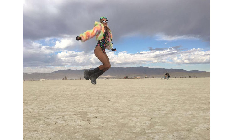 """I believe I can fly...✨✨ #BurningMan,"" she captioned this Instagram post.