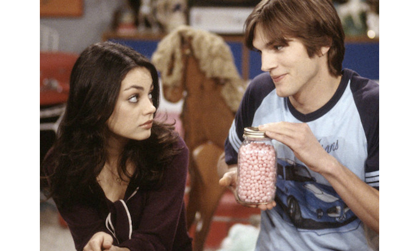 <h2>Mila Kunis and Ashton Kutcher</h2>