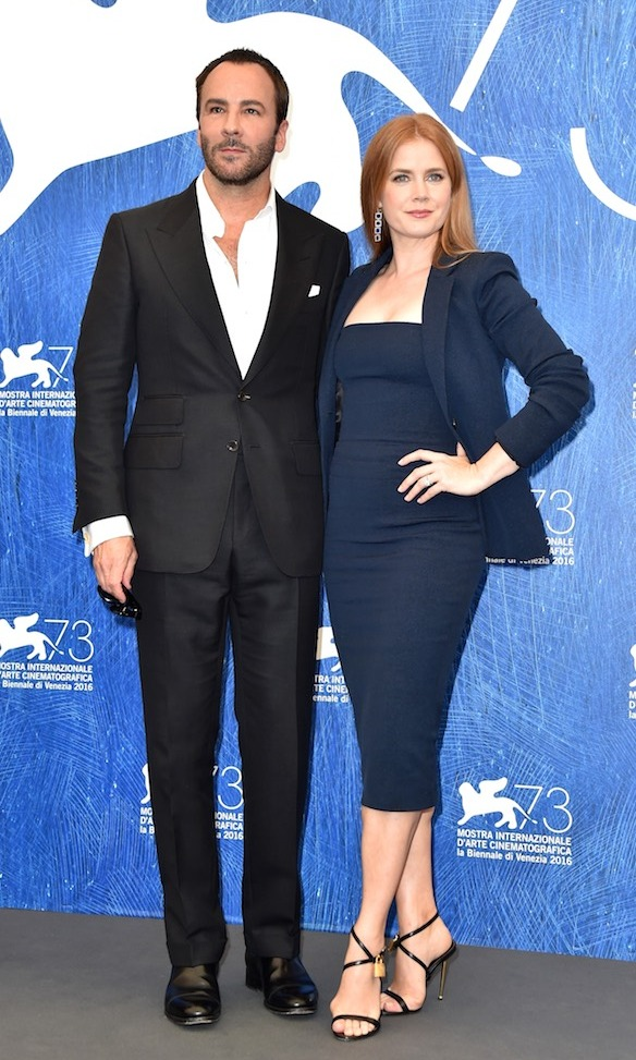 Tom Ford and Amy Adams