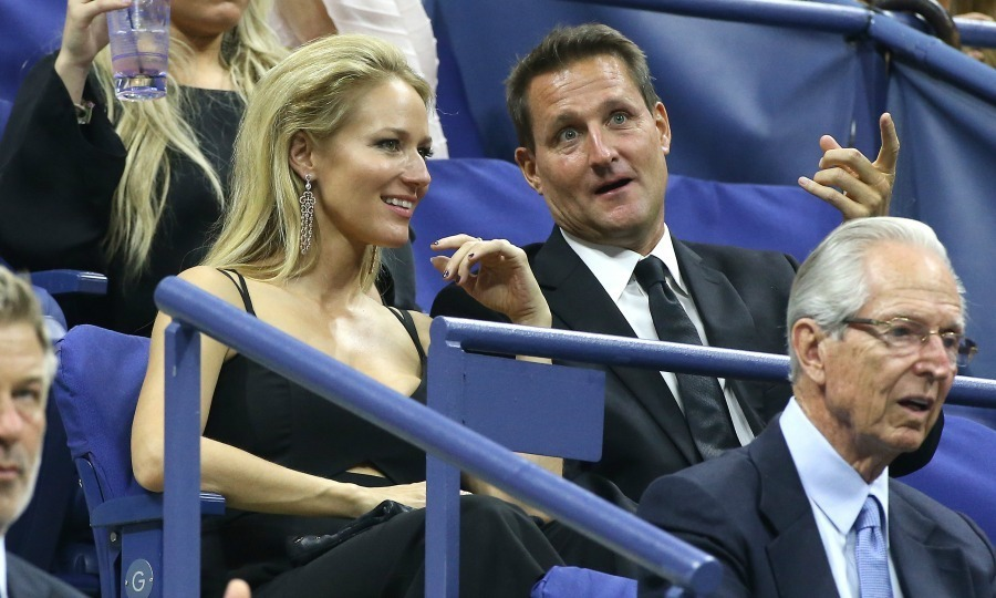 Jewel chats it up while taking in a match during opening night.