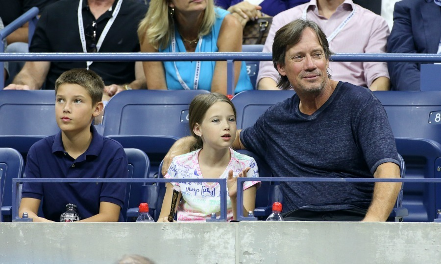 Kevin Sorbo enjoyed a match with his kid squad.