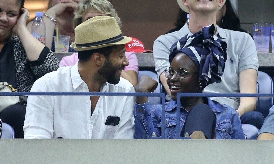"Lupita Nyong'O and her friend William DeMeritt cheered on Serena Williams, who the actress said is ""simply the best.""