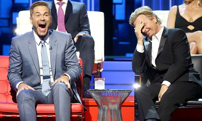 "Rob Lowe was the one being roasted but it looks as though actor David Spade received some shots during the taping of Rob's Comedy Central ""Roast"" in Los Angeles. 