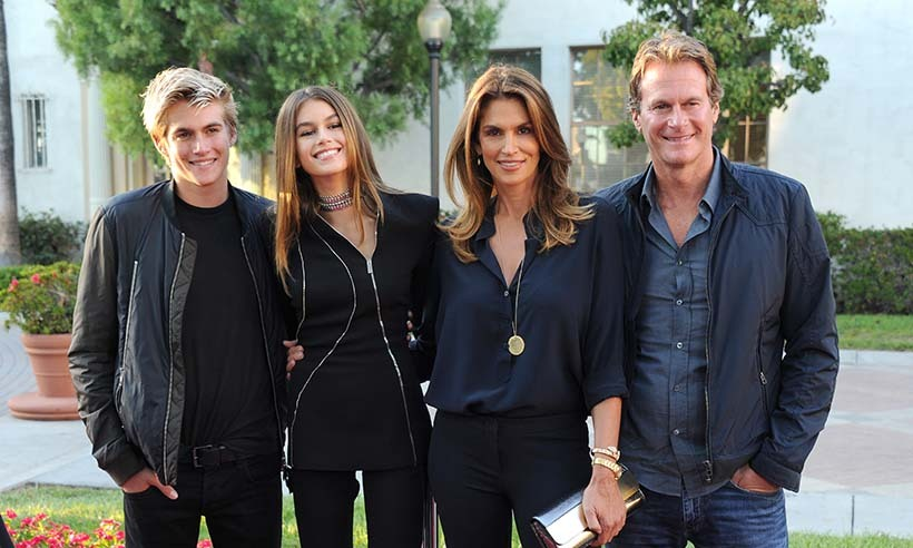 Fresh off their summer vacation in Muskoka, Cindy Crawford, Rande Gerber and their son Presley turned out to support Kaia at the premiere of her new television movie <i>Sister Cities</i>. 