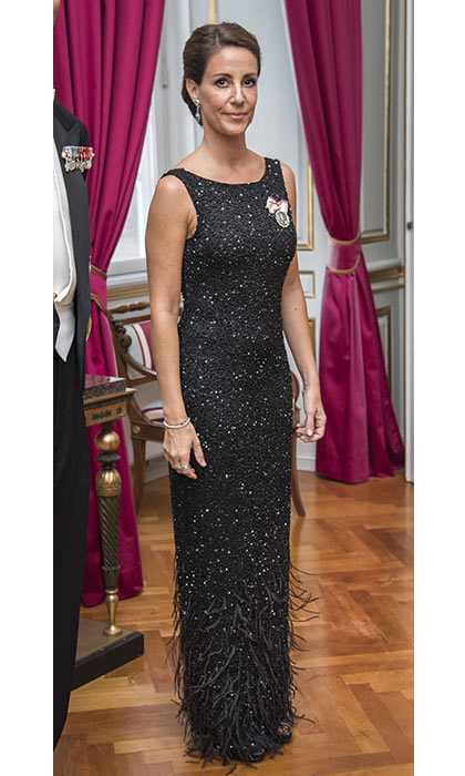 Glitz and glamour was the order of the day for Princess Marie's gala dinner appearance.