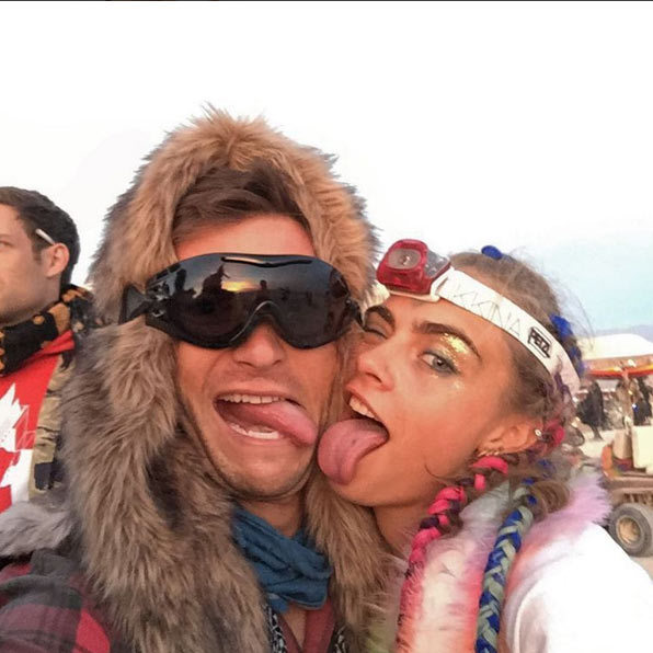 The actor had nothing but good things to say about the festival - and his new friend Cara.