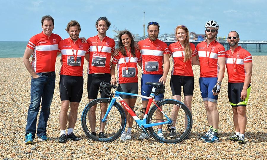 <p>Pippa and her brother James helped to raise money for the British Heart Foundation in June 2015 when they took part in a 54-mile bike ride from London to Brighton. As a long-term ambassador for the charity, Pippa led the group of around 22,000 cyclists from Clapham Common in London to the finish line on the seafront in Brighton.
