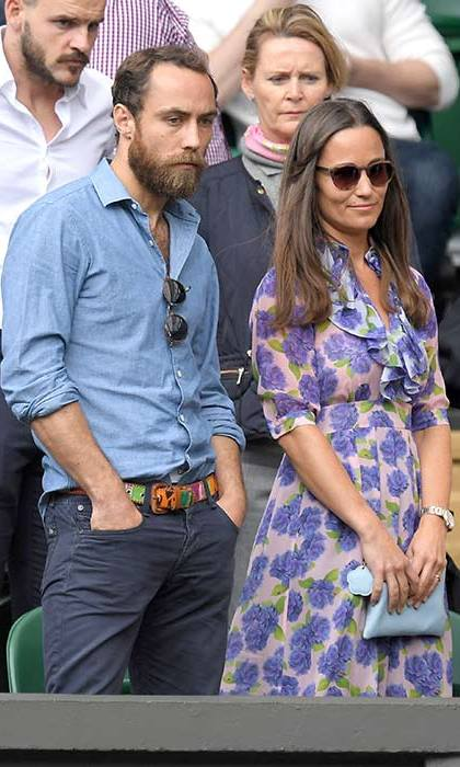 Another day, another stylish Wimbledon outfit for Pippa, who wore a pretty floral dress to attend the tennis tournament with her brother James.