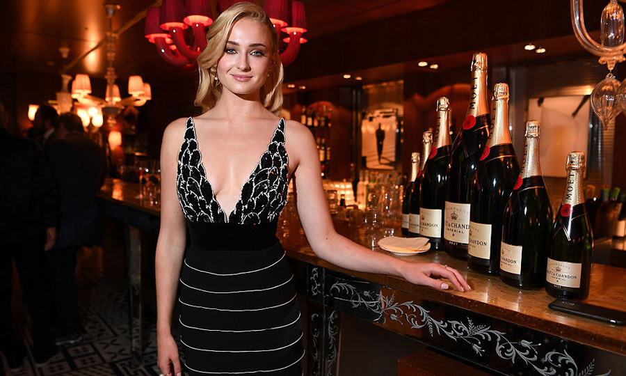 Sophie Turner in Yanina Couture. 