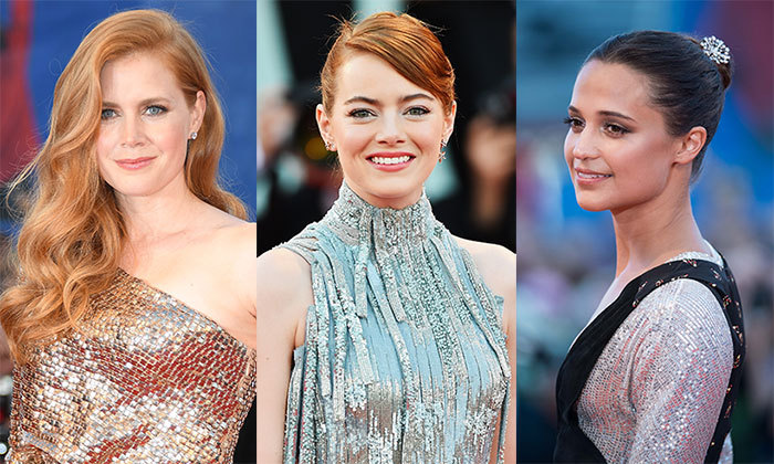 <p>From Emma Stone's eye-catching updo to Amy Adams' old Hollywood make-up, the stars have been pulling out all the stops for this year's Venice Film Festival. 