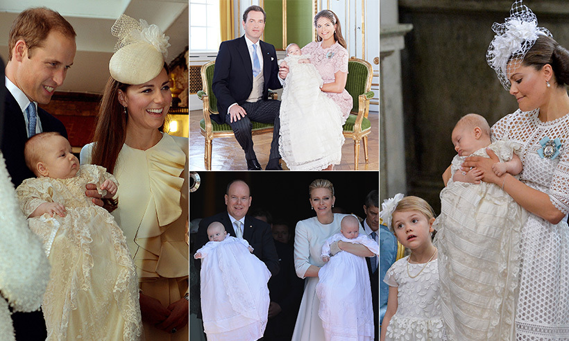From Monaco to Sweden and Britain, the next generation of royals is out in full force as a royal baby boom has taken over Europe. Each of these new additions has been given a christening reflective of both the family's and the country's unique traditions. Click through our gallery to see them all...