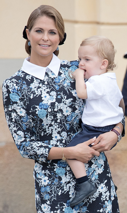 Princess Madeleine wore a pretty floral print dress by Erdem.