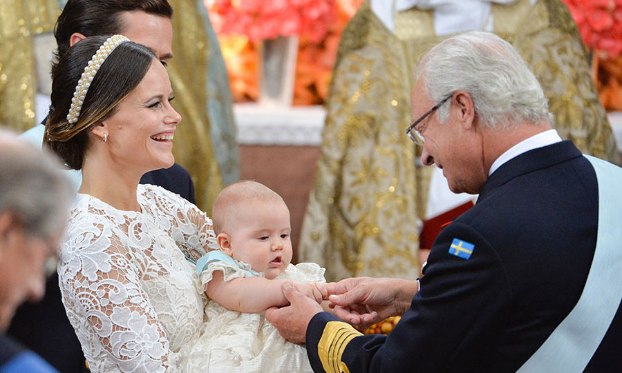 King Carl Gustaf doted on his grandson.
