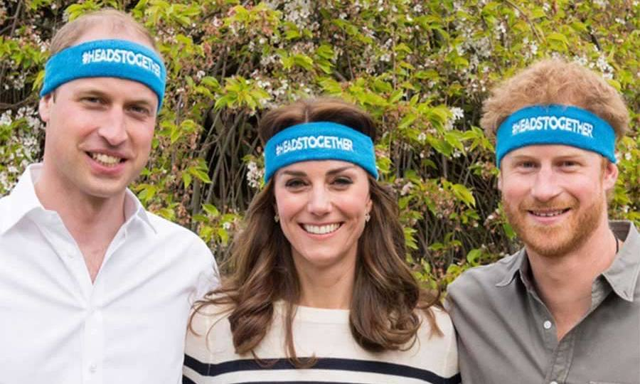 Prince William, Prince Harry and Kate first teamed up to support the Heads Together campaign in April.