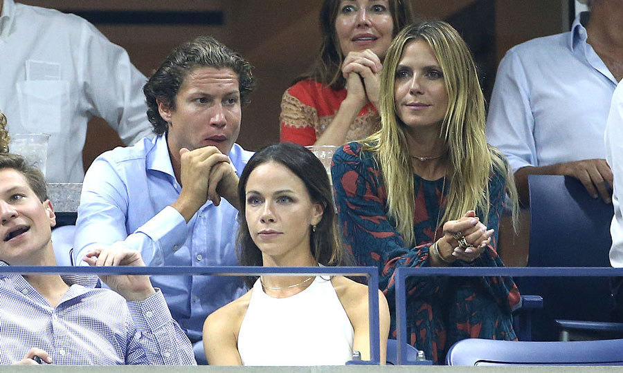 Heidi Klum and her boyfriend Vito Schnabel sat behind Barbara Bush for the women's semifinals during day 11 of the 2016 US Open.